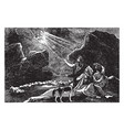 the annunciation to the shepherds vintage vector image vector image
