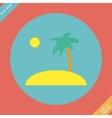 Tropical sea small island vector image vector image