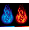 Two flames vector image vector image
