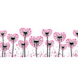 valentine s banner with love dandelions vector image