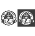 vintage skateboarding monochrome label vector image