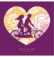 warm day flowers couple on tandem bicycle heart vector image vector image