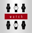 Watch icon set vector image vector image