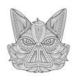 wild hog or boar head mascot coloring page vector image vector image