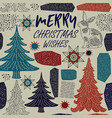 winter holiday card vector image