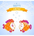 fish smile vector image