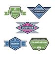 Five original vintage badges vector image