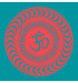 om symbol on hypno background vector image