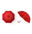 3d realistic render red blank umbrella icon vector image vector image