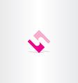 5 number logo magenta icon symbol vector image vector image
