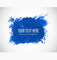 abstract blue painting on white background vector image vector image