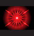abstract red light zoom speed design technology vector image