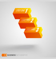 abstract web infographic concept vector image vector image