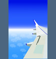 aeroplane wing vector image vector image