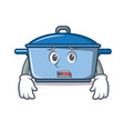 afraid kitchen character cartoon style vector image vector image