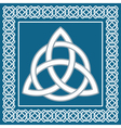 Ancient symbol triskel traditional celtic design vector image vector image