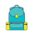 backpack school icon image vector image