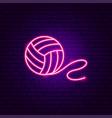 ball thread neon sign vector image
