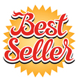 Best Seller Sticker vector image vector image
