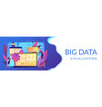 big data visualization concept banner header vector image vector image