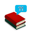 books answers and questions in vector image