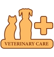 brown isolated veterinary care symbol vector image vector image