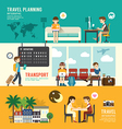 Business travel design concept people set planning vector image vector image