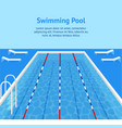 cartoon swimming pool interior card poster ad vector image vector image