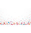 celebration with colorful confetti vector image vector image
