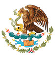 coat arms mexico vector image vector image