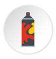 colored spray icon circle vector image vector image