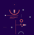 composition geometric forms vector image