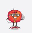 crab apple cartoon businessman mascot character vector image vector image