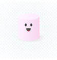 cute simple character american marshmallow vector image