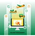 Delivery Management vector image vector image