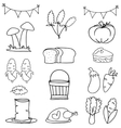 Doodle of thanksgiving hand draw set vector image vector image