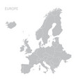 europe map vector image vector image