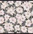 floral seamless pattern flower background spring vector image vector image