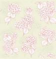 flower pattern hydrangea flowers vector image
