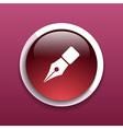 Fountain pen icon pen business write symbol drawin vector image