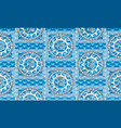 greek sea motif seamless pattern rippled vector image
