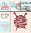 handmade needlework craft badges sewing banners vector image vector image