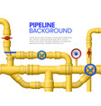 industrial gas pipe banner yellow pipeline oil vector image vector image