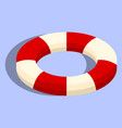isolated lifebuoy or swimming ring vector image vector image