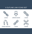 link icons vector image vector image
