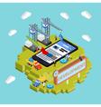 Mobile app development creative process vector image vector image