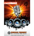 music and disco background vector image vector image