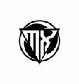 mx logo monogram design template vector image vector image