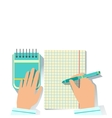 Notebook And Block Note Office Worker Desk Element vector image