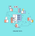 online testing or e-learning concept online vector image vector image